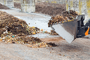 Windrow composting for landscape