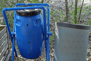 spinning composter for landscape